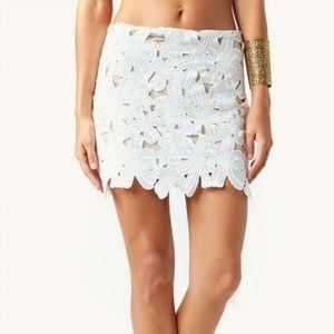 Stone Cold Fox White Ohio Lace Skirt